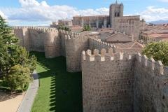 La catéhdrale d'Avila vue des  murailles
