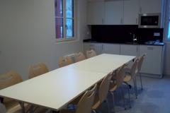 la salle à manger commune des pèlerins